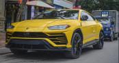 Siêu xe Lamborghini Urus vành 23 inch của thiếu gia nhà bầu Hiển dạo phố