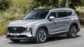 Hyundai Santa Fe nâng cấp lộ ảnh chạy thử tại Hàn Quốc