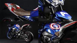 """Kawasaki Z900 phiên bản """"đội trưởng Mỹ"""" Captain American trình làng"""