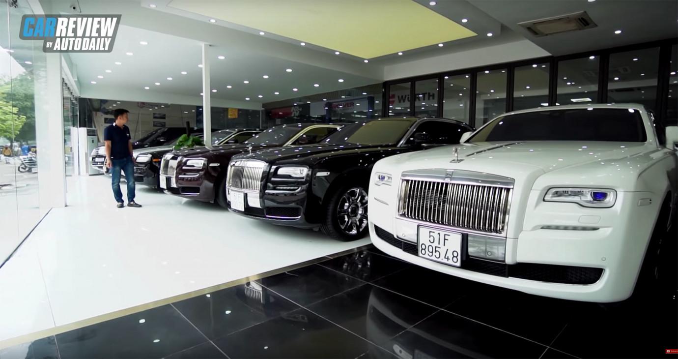 Khám phá Showroom với dàn Rolls-Royce cũ lớn nhất Việt Nam