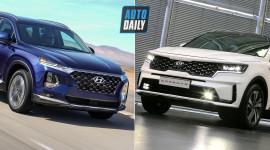 So sánh Kia Sorento 2021 và Hyundai SantaFe 2019 - Xe Hàn song đấu