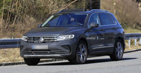 Volkswagen Tiguan 2021 tiếp tục lộ diện trên đường thử