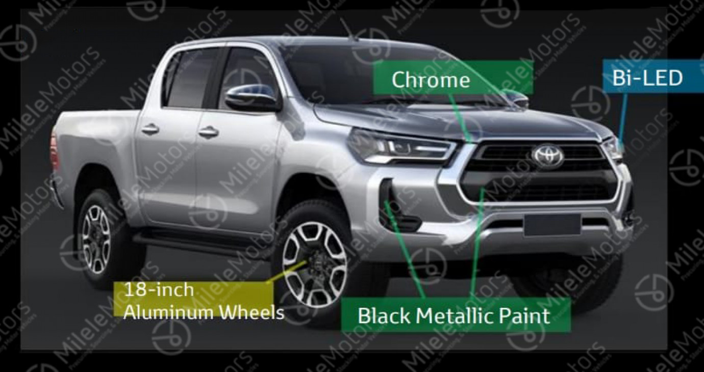 Toyota Hilux 2021 lộ diện với nhiều nâng cấp đáng kể