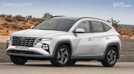 Ảnh phác họa Hyundai Tucson 2021 với thiết kế hướng tới tương lai
