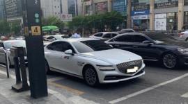 Xế sang Genesis G80 2021 được dùng làm xe taxi tại Hàn Quốc