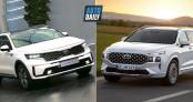 So sánh Hyundai Santa Fe 2021 và Kia Sorento 2021: Xe Hàn đại chiến