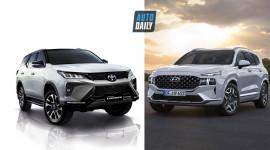 So sánh Toyota Fortuner 2021 và Hyundai Santa Fe 2021: Chọn xe SUV Nhật hay Hàn?
