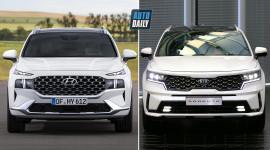 Hyundai Santa Fe 2021 ĐỐI ĐẦU Kia Sorento 2021: SUV Hàn đại chiến