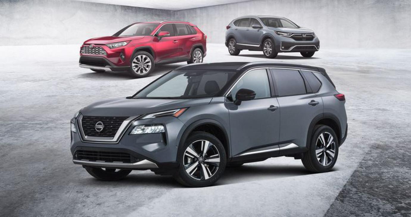 So sánh Nissan X-Trail 2021 với Honda CR-V và Toyota RAV4