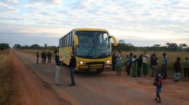 Đi xe khách đường dài ở châu Phi