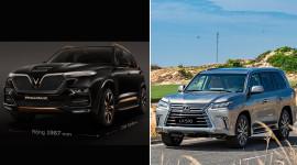 So sánh kích thước của VinFast President và Lexus LX570