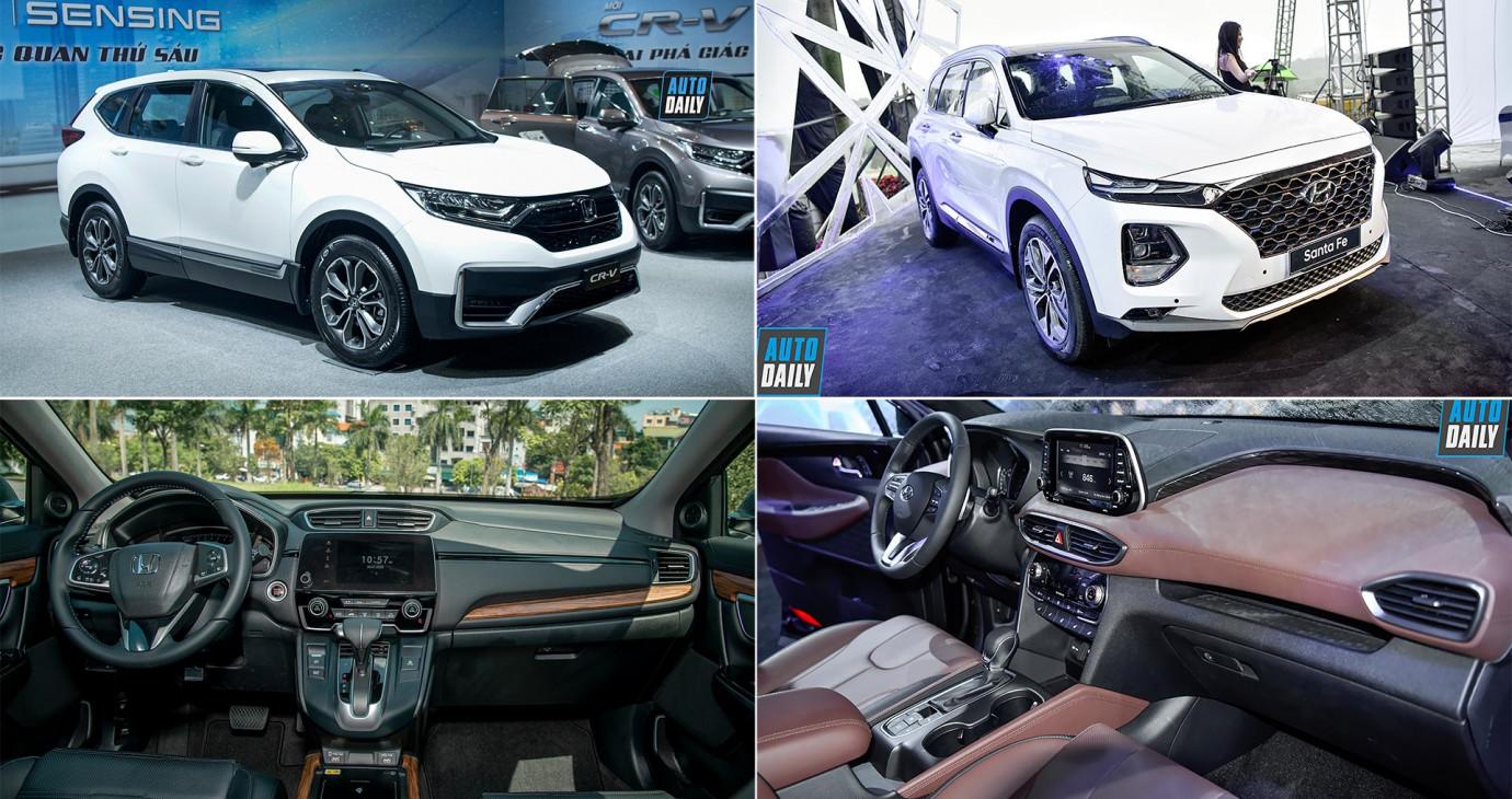 Gần 1 tỷ đồng, chọn Honda CR-V 2020 hay Hyundai Santa Fe?