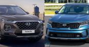 Chênh hơn 100 triệu đồng, chọn Kia Sorento 2021 hay Hyundai Santa Fe?