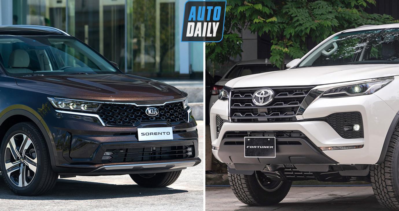 So sánh GIÁ LĂN BÁNH Kia Sorento 2021 và Toyota Fortuner 2021 - Bạn chọn XE NÀO?