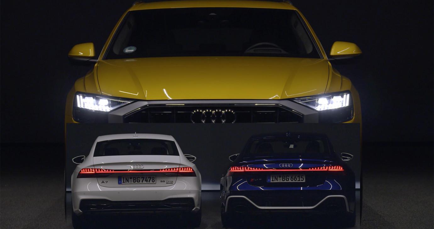 MÊ MẨN trước VẺ ĐẸP hệ thống đèn trên dàn xe Audi