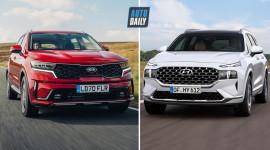 So sánh NGOẠI THẤT Kia Sorento 2021 và Hyundai SantaFe 2021