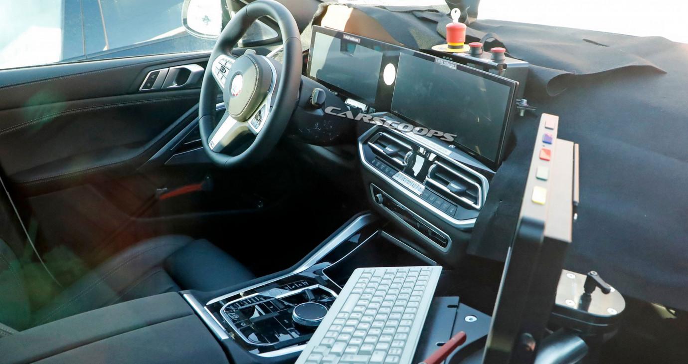 BMW X6 2022 lộ nội thất với màn hình cong như iX