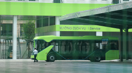 Cận cảnh Trung tâm vận hành VinBus - và xe bus điện của VinFast sắp hoạt động tại Hà Nội