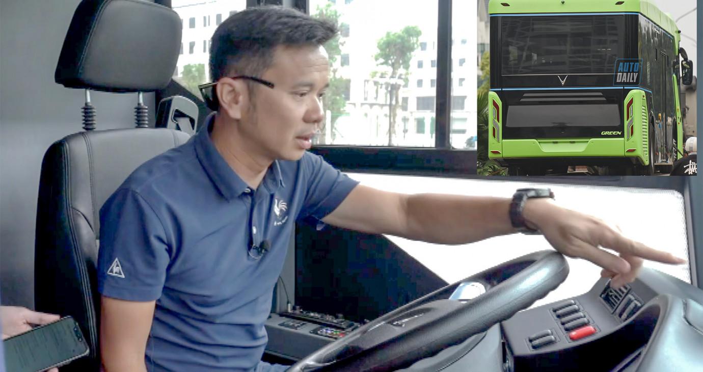 Ngồi thử khoang lái VinBus - Khám phá hàng tá công nghệ thông minh