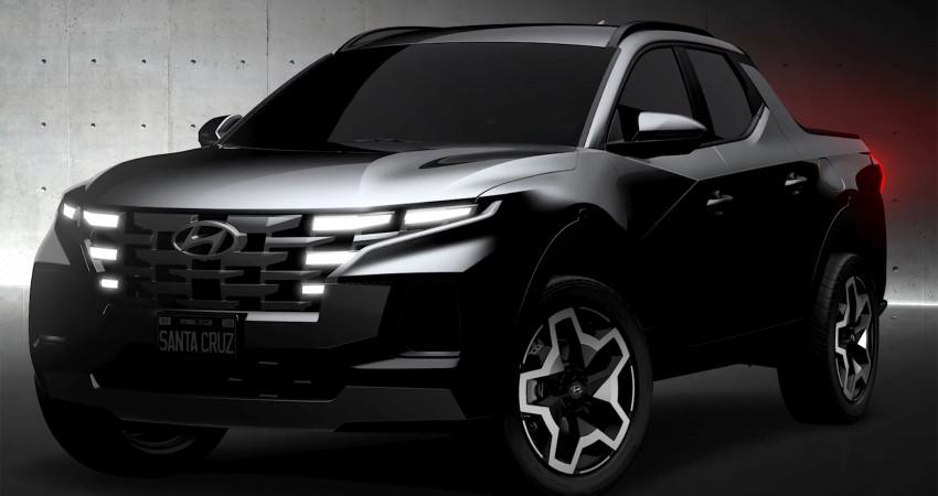 NHÁ HÀNG bán tải Hyundai Santa Cruz 2022 - Chờ BOM TẤN lộ diện