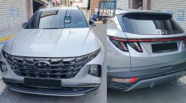 Cận cảnh Hyundai Tucson 2022 trên đường phố, lột xác hoàn toàn