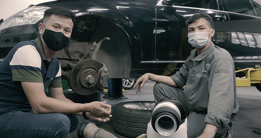 Xử lý treo khí nén cho Mercedes S300 - GIÁ phải trả liệu có đắt?