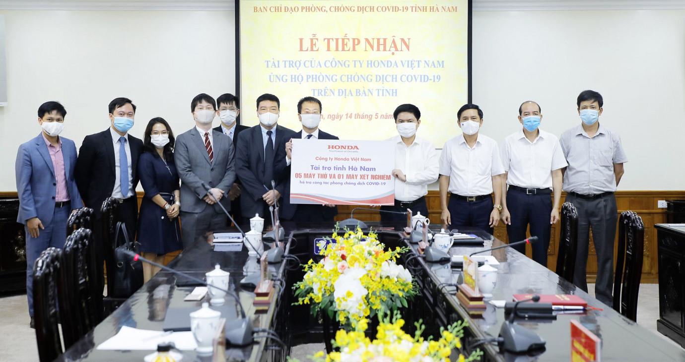 Honda Việt Nam ủng hộ phòng chống dịch bệnh COVID-19 tại tỉnh Vĩnh Phúc và Hà Nam