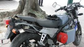 Xe mô tô điện hàng độc trên phố Hà Nội
