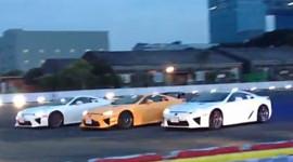Ba siêu xe Lexus LFA drift theo nhạc