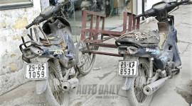 Chùm ảnh: Xe máy quá hạn nhan nhản Hà Nội