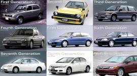 Bước tiến của Honda Civic qua 9 thế hệ
