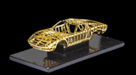 Cấu trúc Lamborghini Miura bằng vàng 24 cara