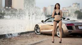 """Hot girl Mil Nơ """"nóng"""" bên siêu xe Audi R8 Spyder"""