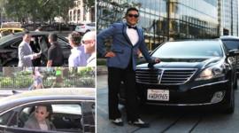 Cha đẻ của Gangnam Style lái Hyundai Equus tại Mỹ