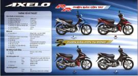Chi tiết thông số kỹ thuật của Suzuki Axelo tại Việt Nam
