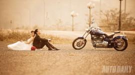 Ấn tượng ảnh cưới của những người yêu xe máy