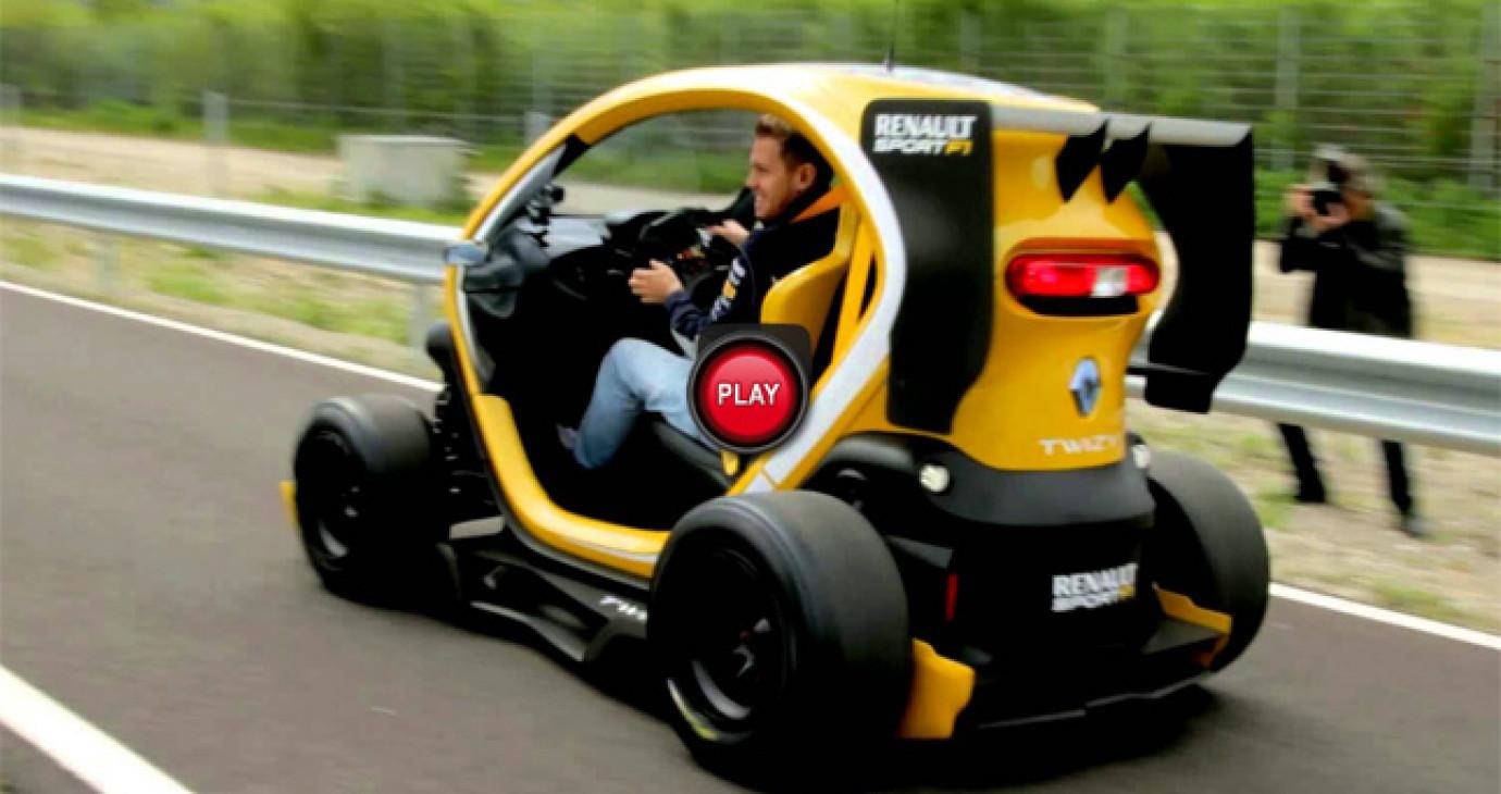 "Sebastian Vettel lái ""xe câm"" của Renault"